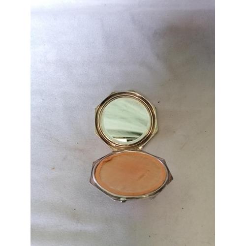 326 - A silver compact mirror (Birmingham 1934)...