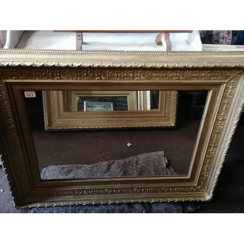372 - Two 19C wall mirrors with ornate gilded frames, H81 W106 cm...