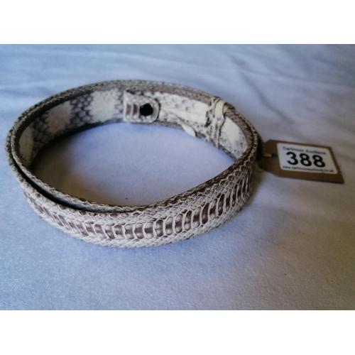388 - Snakeskin belt...