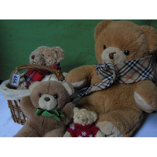 456 - Four teddy bears that need a new home...