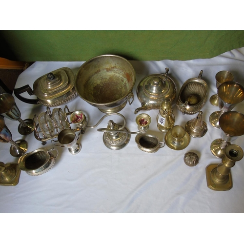 490 - Collection of silver plate...