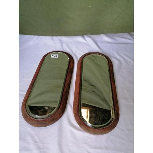 498 - Pair of Edwardian mirrors...