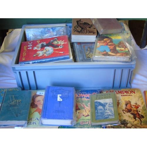 82 - A crate of vintage hardback children's books...