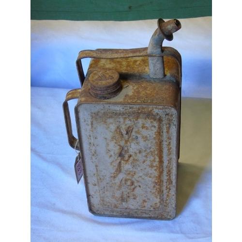 181 - A vintage Valor Esso Blue paraffin can...