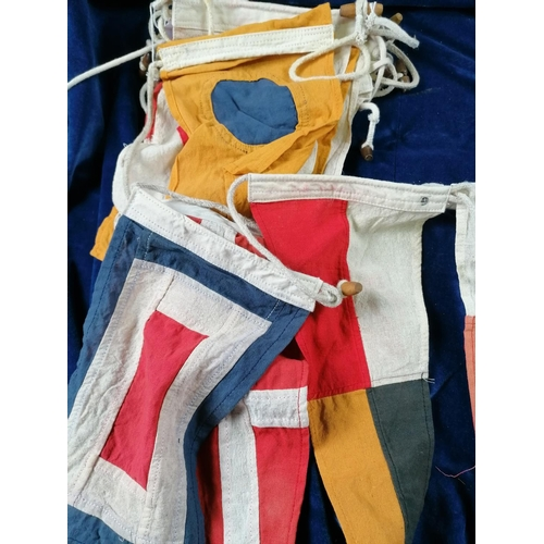 34 - Of maritime interest, a group of twenty semaphore  Ensign flags in good clean condition; longest is ...