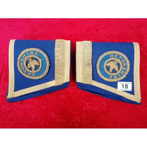 18 - Pair of masonic cuffs in excellent condition
