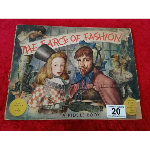 20 - The Farce of Fashion book. A real treasure find - interchangeable slides make this a real one off