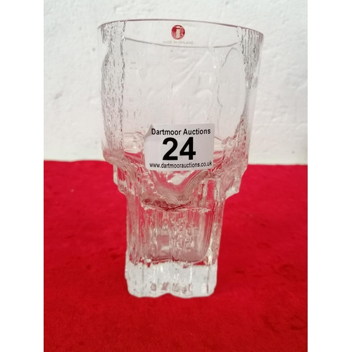 24 - Tapio Wirkkala art glass Finland signed