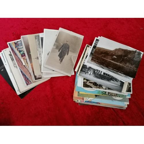34 - Postcards (inc. German war planes, charabancs, trains etc)