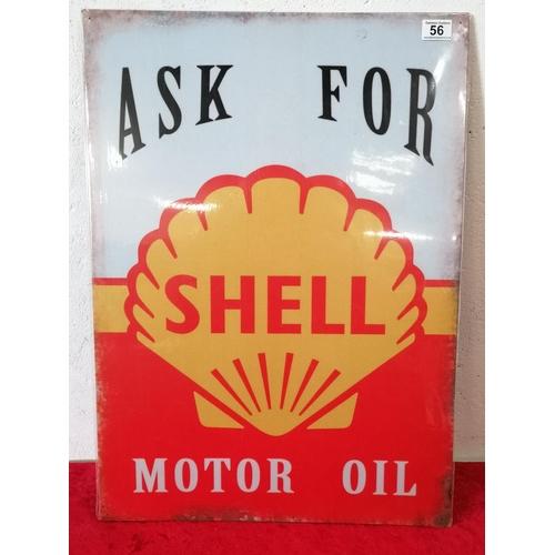 56 - Large tin sign shell