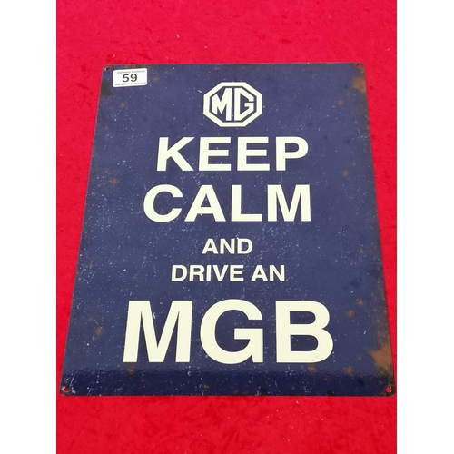 59 - Tin sign for  MGB enthusiasts