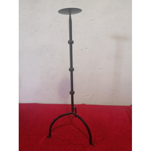 11 - Pricket candle stick with good curved legs.