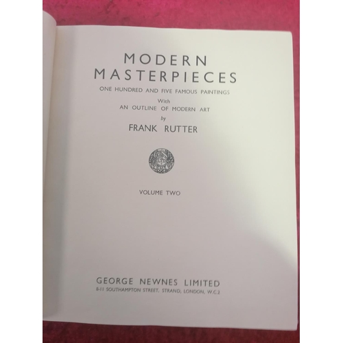 27 - Modern Masterpieces, a classic Coffee-table book. Showing art by Frank Rutter.