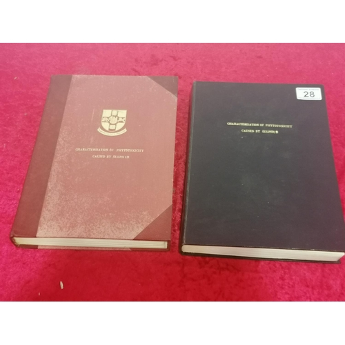 28 - Two albums of a dissertation on Characterisation of Phytotoxicity caused by Sulphur. Beautifully pre...
