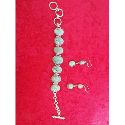 38 - Turquoise Bracelet and Earrings (g25)