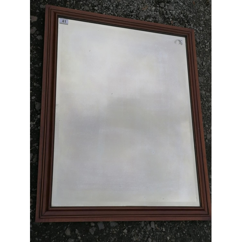 41 - A Mirror with Good Quality Mahogany Frame. 29x37 Inches.