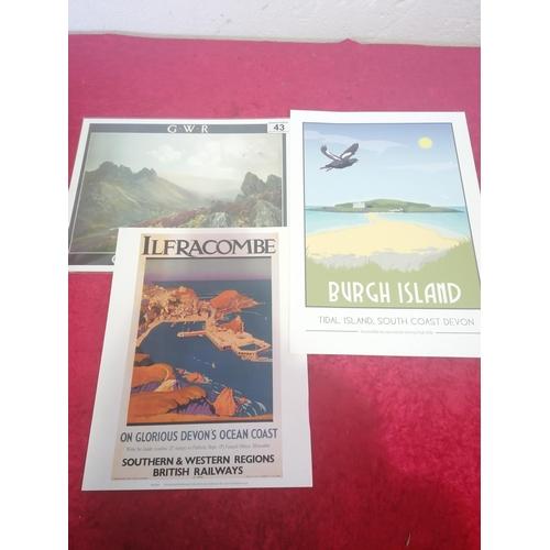 43 - Of Devon interest. Three Posters in excellent condition of Devon seas.