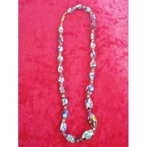 46 - Genuine old murano glass necklace
