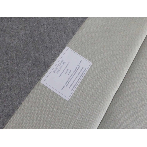 10 - JUSTIN VAN BREDA SOFA, white fabric finish, 217cm W approx. (with faults)...