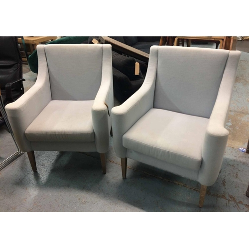 11 - JUSTIN VAN BREDA ARMCHAIRS, a pair, 100cm H. (2) (with faults)...