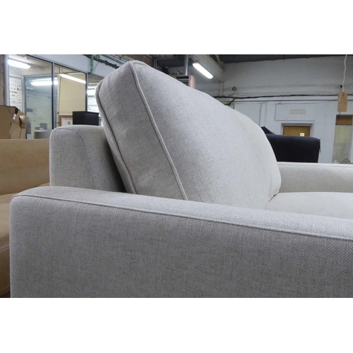 13 - SOFA, contemporary neutral upholstery, on ebonised supports, 170cm W....