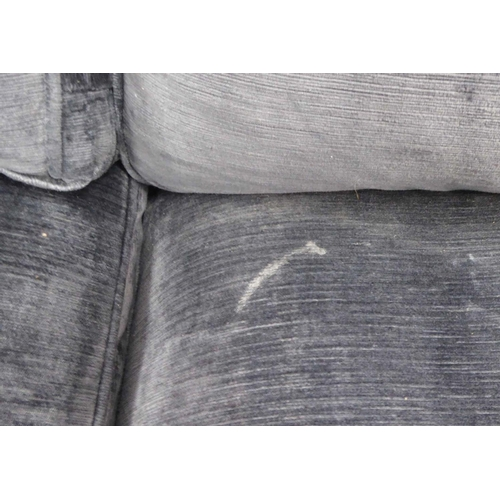 44 - SOFA.COM SOFA, grey fabric finish, 217cm W. (with faults)...