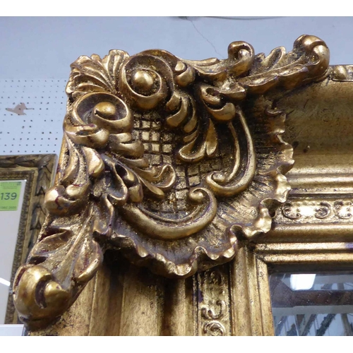 60 - MIRROR, Continental style gilt frame, 120cm x 207cm approx....