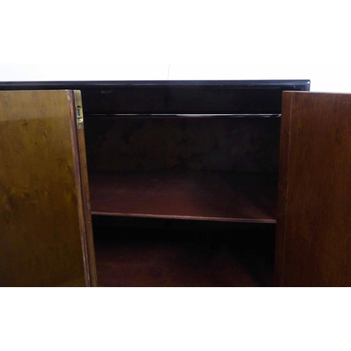 49 - CABINET, vintage 20th century, in later ebonised finish, 73cm x 43cm x 147cm (with faults)....
