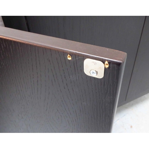 14 - SIDE CABINETS, a pair, contemporary ebonised finish, 90cm x 40cm x 89cm. (2)...