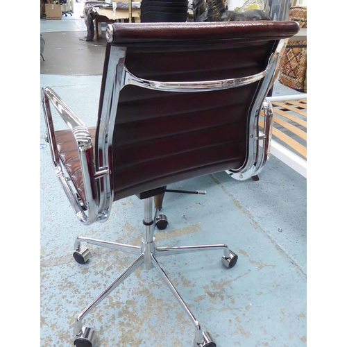 40 - AFTER CHARLES AND RAY EAMES, aluminium group style desk chair, 100cm at tallest (with slight faults)...