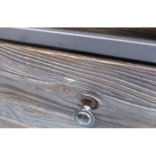 1 - DESK, contemporary design concrete top with two drawers, 161cm x 50cm x 76cm....