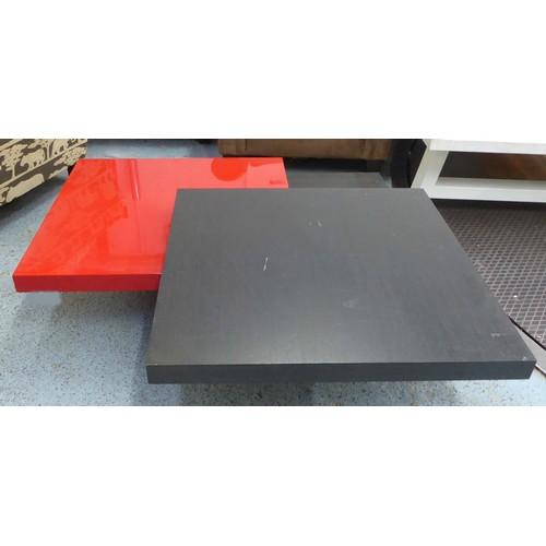 3 - COFFEE TABLE, metamorphic design, 80cm x 80cm x 36cm. (with faults)...