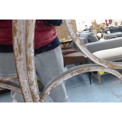 54 - GARDEN WALL MIRRORS, a set of three, 122cm x 56cm (3)....