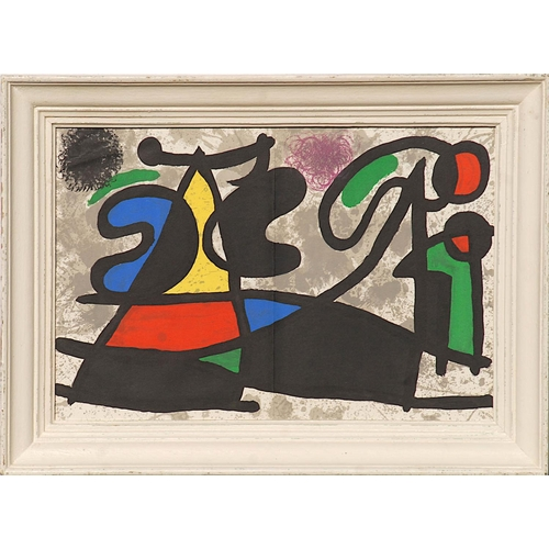 JOAN MIRO, lithograph 1970, printed by Maeght, 40cm x 55cm, framed and glazed.