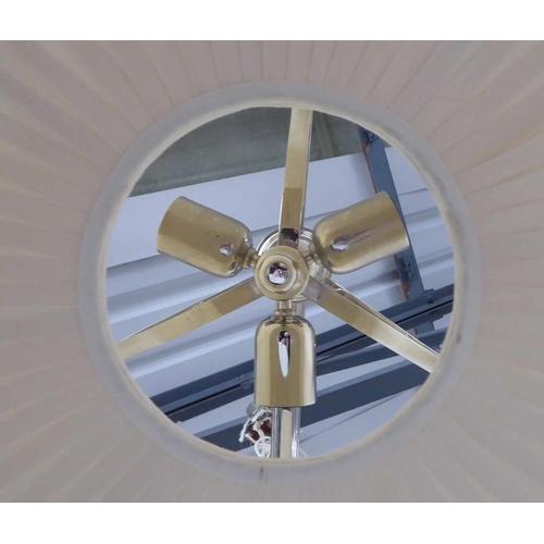 12 - ARTEMIS DESIGN TWIN BRANCH CEILING PENDANT LIGHT, 130cm....