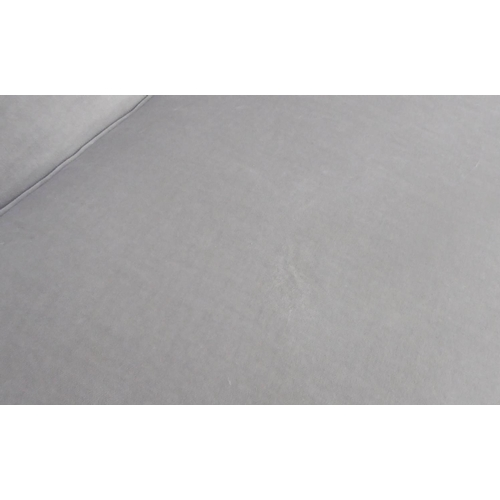 13 - TAYLOR HOWES SOFA, in grey chenille, 202cm W. (slight marks to fabric)...