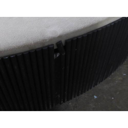 38 - LOW TABLE, contemporary Italian style design, 25cm H x 103cm Diam approx. (slight faults)...