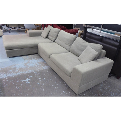 48 - DWELL VERONA CORNER SOFA, in two sections, 315cm x 177cm. (with faults)...