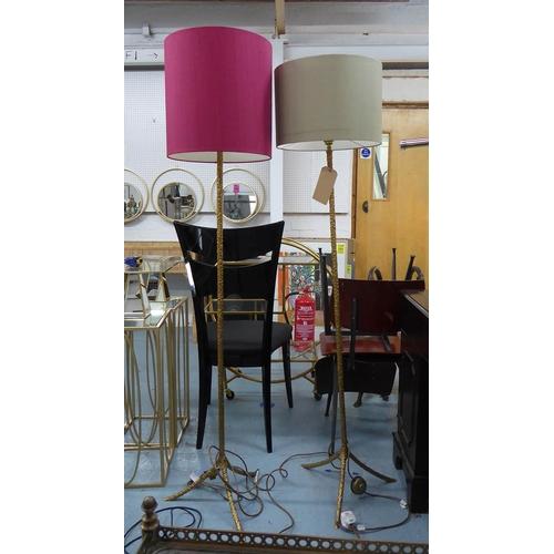 30 - PORTA ROMANA RHODE ISLAND FLOOR LAMPS, a pair, with differing Porta Romana shades, 164cm at tallest....