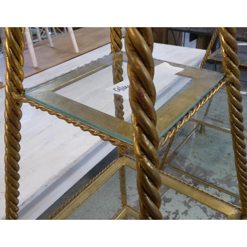 37 - DISPLAY STANDS, two, to match previous lot, 200cm H x 80cm x 80cm and 180cm H x 77cm x 72cm. (2) (wi...