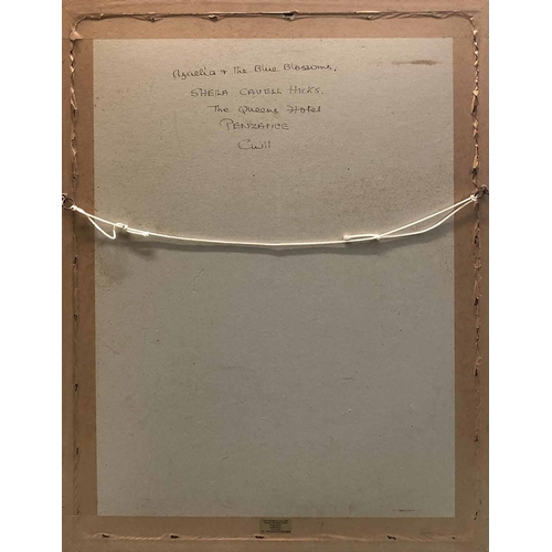 25 - SHEILA CAVELL HICKS (Cornwall 1916-2008) 'Azalea and the Blue Blossoms', watercolour, signed, inscri...