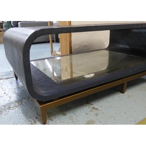 44 - JULIAN CHICHESTER WILHELM LOW TABLE, 125cm x 76cm x 46cm. (slight faults)...