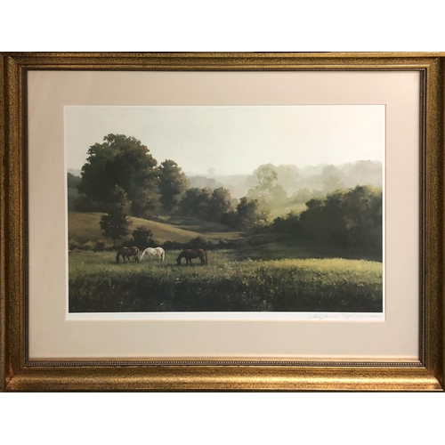 38 - LANFORD MONROE (1950-2000) 'Lazy Afternoon', lithograph, signed in pencil labelled verso, 50cm x 35c...