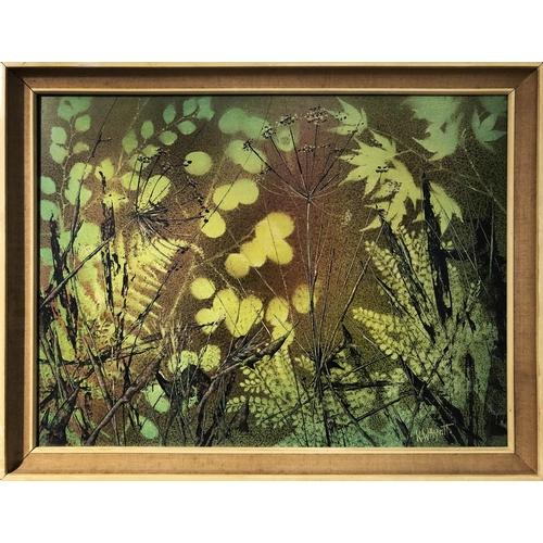 41 - K. W. WHYATT 'Still Life', oil on bard, signed, 59cm x 44cm, framed....