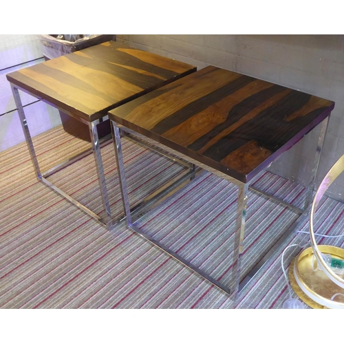 13 - SIDE TABLES, a pair, 20th century style, 55cm x 55cm x 54cm. (2) (with slight faults)