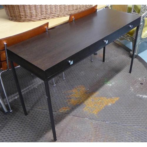 48 - WRITING DESK, contemporary, three drawers, 129cm x 47cm x 74cm. (slight faults)...