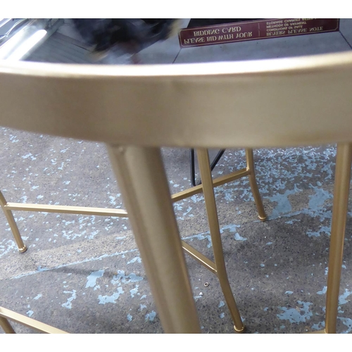 59 - SIDE TABLES, a pair, 1960's Italian style, smoked glass tops, 70cm x 36cm x 70cm. (2)...