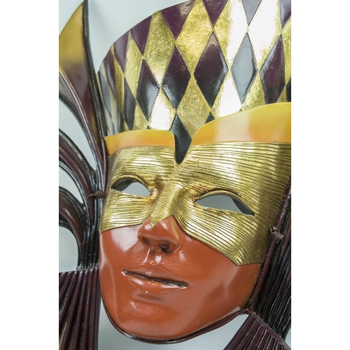 11 - MICHAEL TAYLOR VENETIAN STYLE MASKS, a collection of three, wall display art work. (3)