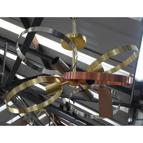 86 - CEILING LIGHT, contemporary atomic style loop design, 35cm Drop approx.