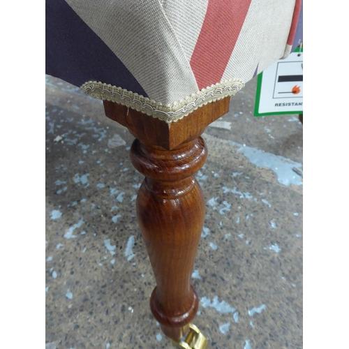 61 - UNION JACK ARMCHAIR, buttoned back finish, 96cm H.